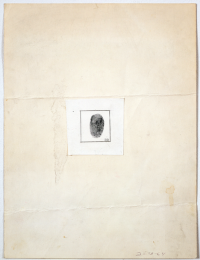 Rauschenberg's Self-Portrait for The New Yorker profile, via New Yorker