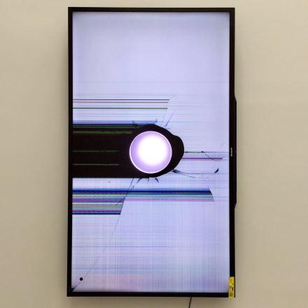 Walead Beshty, Sharp LC-90LE657U 90-inch Aquos HD 1080p 120Hz 3D Smart LED TV (2017), via Art Observed