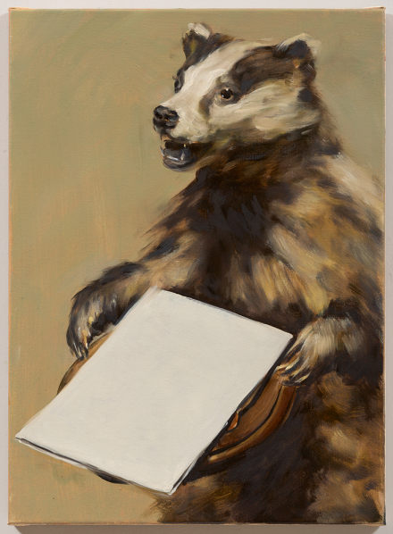 Michaël Borremans, Black Mould The Badgers Song II (2015), via David Zwirner