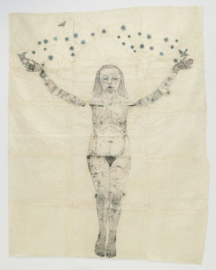 Kiki Smith, Blue Stars on Blue Tree (2006), via Pace Gallery