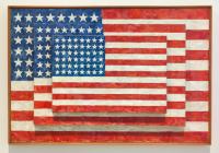 Jasper Johns, Three Flags, via NYT