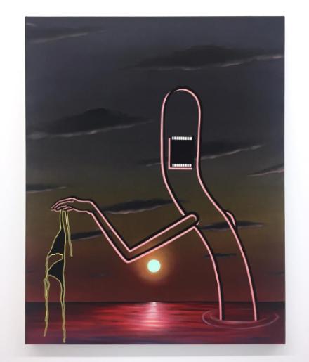 Emily Mae Smith at Simone Subal, via Art Observed