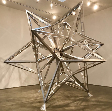 Frank Stella, Alu Tuss Star (2016), via Art Observed