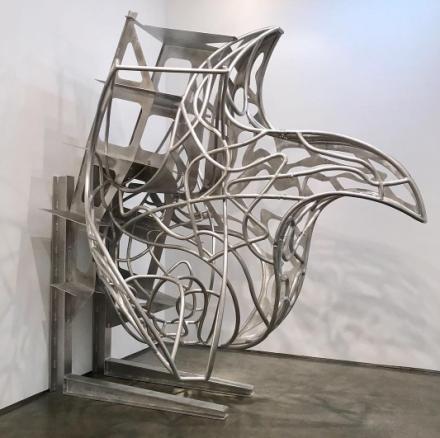 Frank Stella, Stars on Jigs (2017), via Art Observed