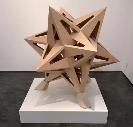 Frank Stella, Flat Pack Star (2016), via Art Observed