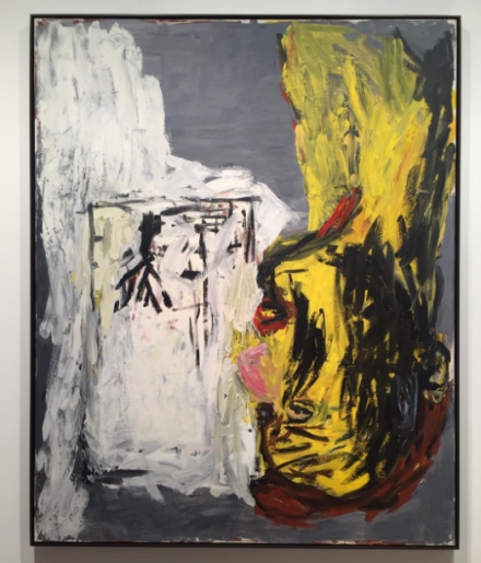 Georg Baselitz, Kopf in der Sonne (1982), via Art Observed