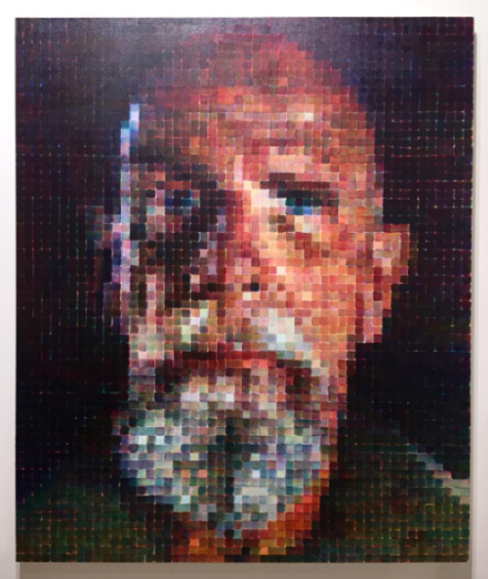 Chuck Close, Self-Portrait (No Glasses) (2016), via Art Observed