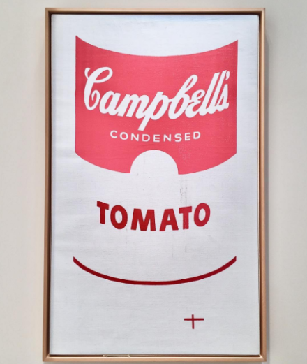 Andy Warhol, Large Campbell's Soup Can (1964), via Art Observed