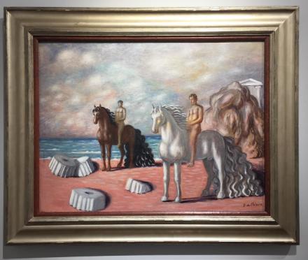 Giorgio di Chirico, Dioscuri (1934), via Art Observed