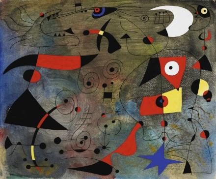Joan Miro, Femme et Oiseaux (1940), via Sothebys
