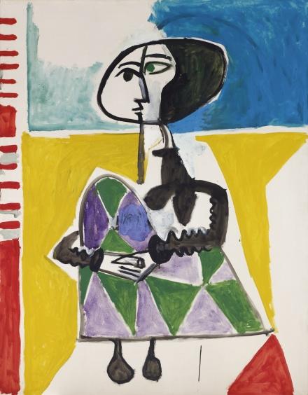 Pablo Picasso, Femme accroupie (1954), via Sothebys