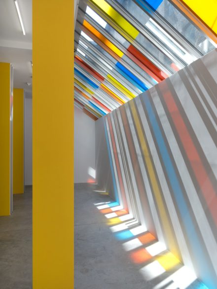 Daniel Buren, To Align: works in situ 2017 (Installation View), via Bortolami Gallery
