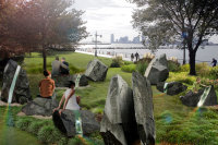 LGBTQ monument in Hudson Park by Anthony Goicolea, via NYT