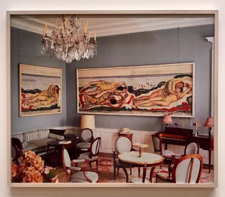 Louise Lawler, Salon Hodler (1992:1993), via Art Observed