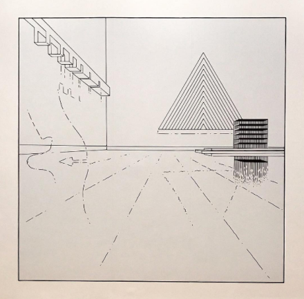 Louise Lawler, Triangle (traced), (2008:2009:2013), via Art Observed