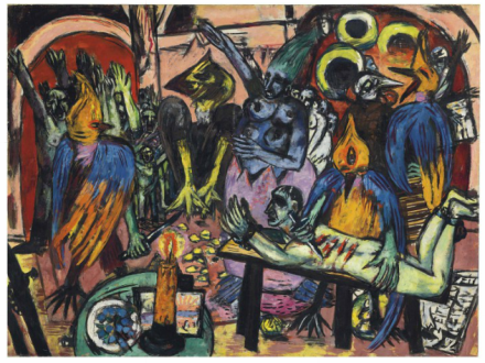 Max Beckmann, Hölle der Vögel (1937-38), final price £36,005,000, via Christies