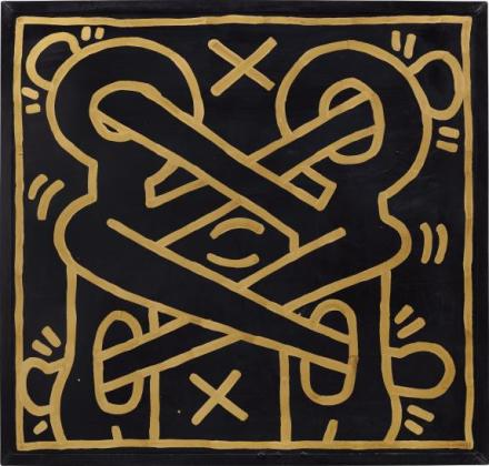 Keith Haring, Untitled (1984), Final Price£2,333,000, via Phillips