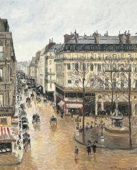 Rue Saint-Honoré, dans l'après-midi. Effet de pluie, via