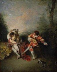 Jean-Antoine Watteau's La Surprise, via NYT