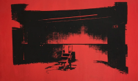 Andy Warhol, Red Electric Chair, via Guardian