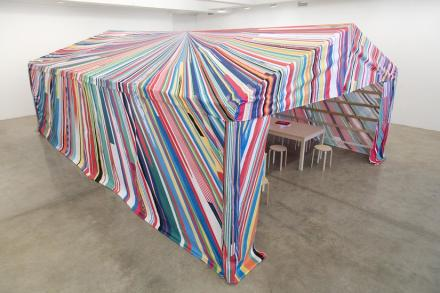 Meschac Gaba, Reflection Room Tent (2017), via Tanya Bonakdar