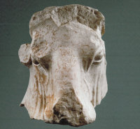 disputed bull's head, via NYT