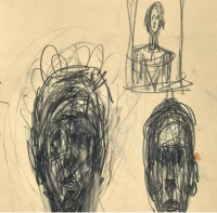 Giacometti Drawings, via The Guardian