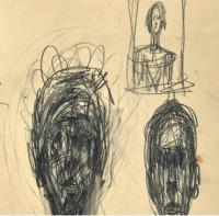 Giacometti Drawings, via The Guardian
