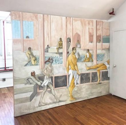 Julien Ceccaldi, Pompeii Bathhouse (2017), via Art Observed