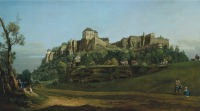 Bellotto, The Fortress of Königstein from the North (1756-58), via Art Newspaper