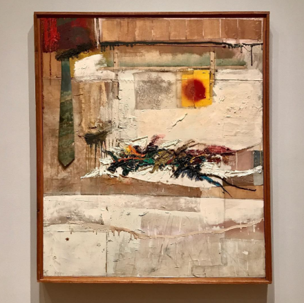 Robert Rauschenberg, Rhyme (1956), via Art Observed