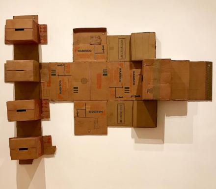 Robert Rauschenberg, Nabisco Shredded Wheat (Cardboard) (1971), via Art Observed