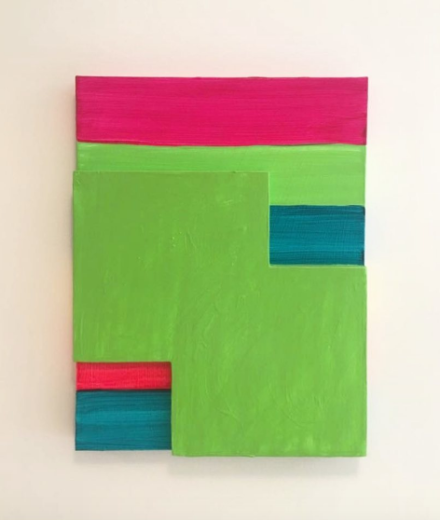 Mary Heilmann, Green Mirage (2017), via Art Observed