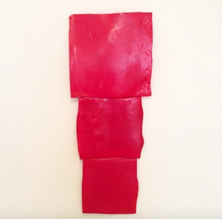 Mary Heilmann, Red Metric (2015), via Art Observed