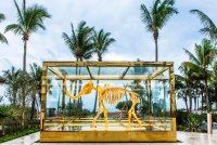Damien Hirst in Miami, via NYT