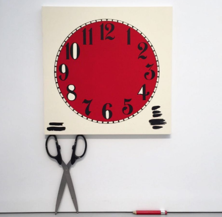 Amanda Ross-Ho, Untitled Timepiece (Coca-Cola) (2017), via Art Observed
