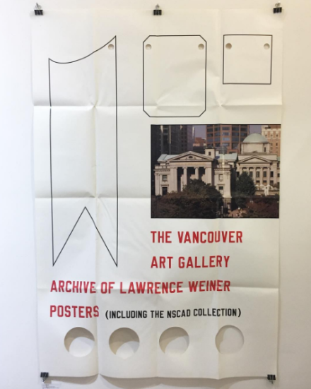 A Lawrence Weiner Poster at Printed Matter, via Art Observed