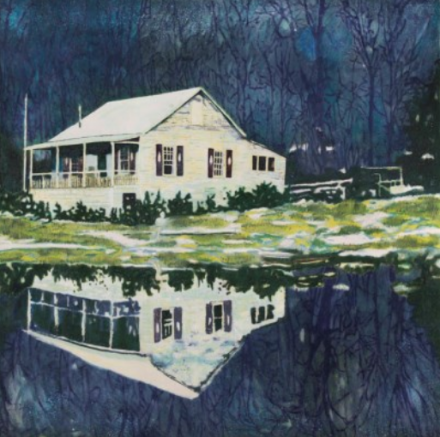 Peter Doig, Camp Forestia (1996), via Art Observed
