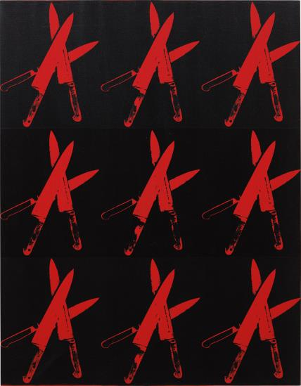 Andy Warhol, Knives (1982), via Phillips