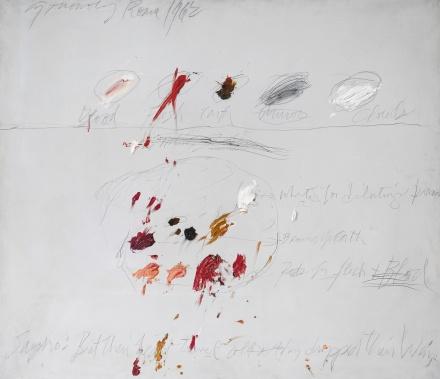 Cy Twombly, Untitled (1962), via Sothebys