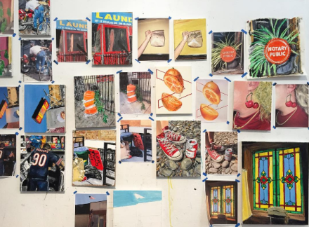 Brett Stano's Studio at 41 Varick, via Art Observed