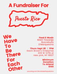 Puerto Rico fundraiser, via Art News