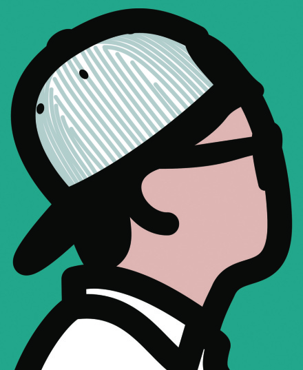 Julian Opie, Baseball Cap Boy (2016), via Kukje