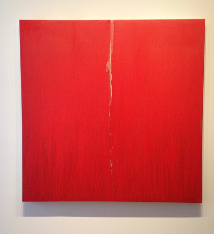Pat Steir, Little Red One (2016), all images via Osman Can Yerebakan for Art Observed