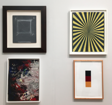 Drawing works at Gagosian Gallery, via Art Observed