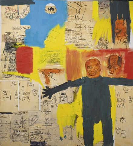 Jean-Michel Basquiat, Remote Commander (1984), via Sothebys