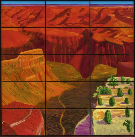 David Hockney, Fifteen Studies of the Grand Canyon (1998), via Sothebys