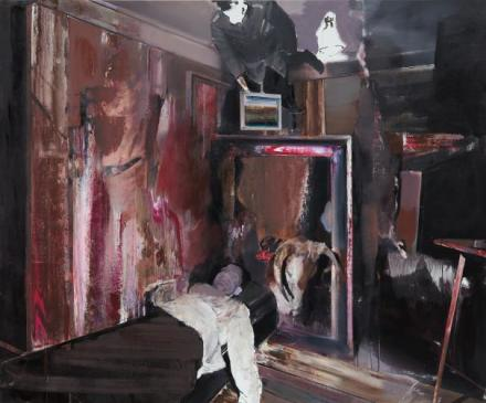Adrian Ghenie, The Collector 4 (2009), via Phillips