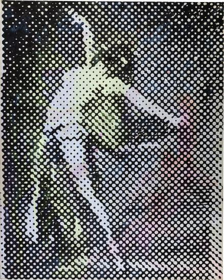 Sigmar Polke, Tanzerin (1994), via Phillips