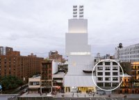 Adjacent building where construction will take place for New Museum, via NYT
